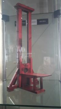 Modell einer Guillotine