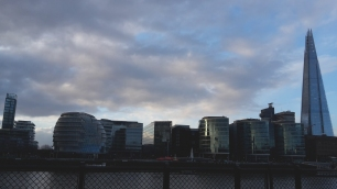 Skyline gegenüber vom Tower