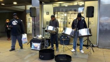 Musiker an der U-Bahn Station