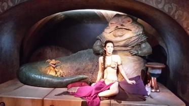 Jabba und Prinzessin Leia